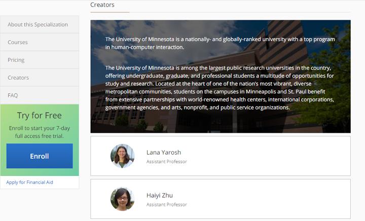 University of Minnesota——Design Better User Interfaces
