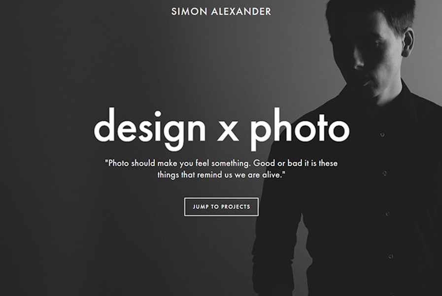 Simple Website Design with a Black & White Color Scheme