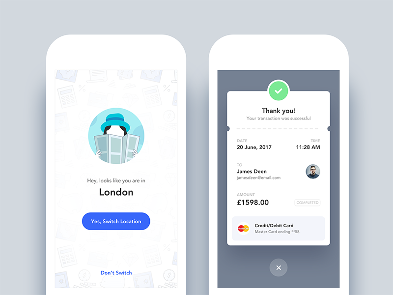 Location Switching - Mobile Form Design Examples 2