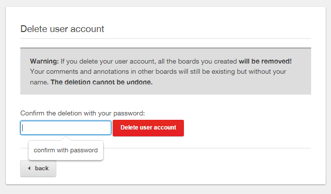 Prevent accidental account deletion