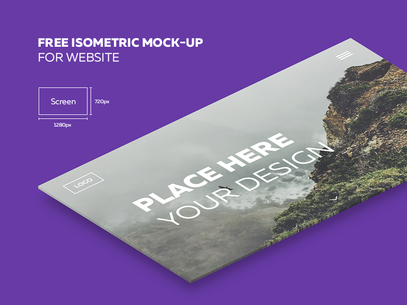 Free isometric mock-up for website