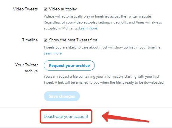 Don't hide delete account option