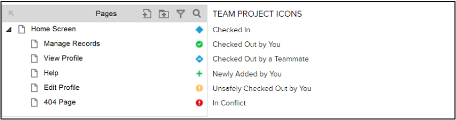 Team Project Page Icons in Axure