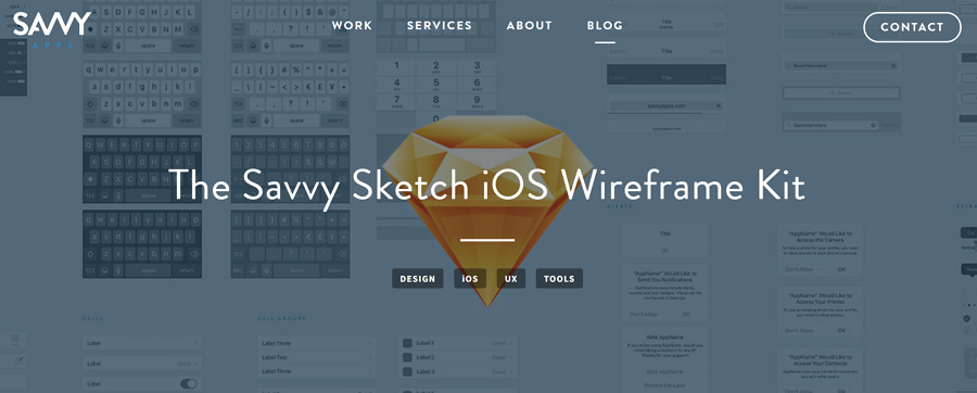 Savvy-sketch-ios-wireframe-kit