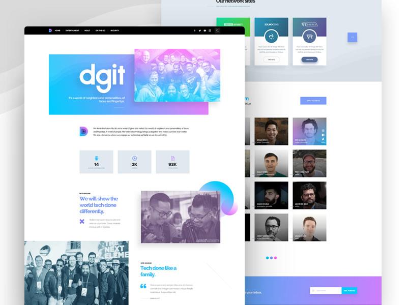DGiT - About us design