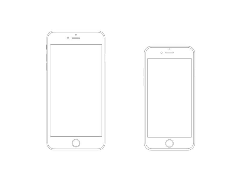 Iphone 6 Plus Wireframe