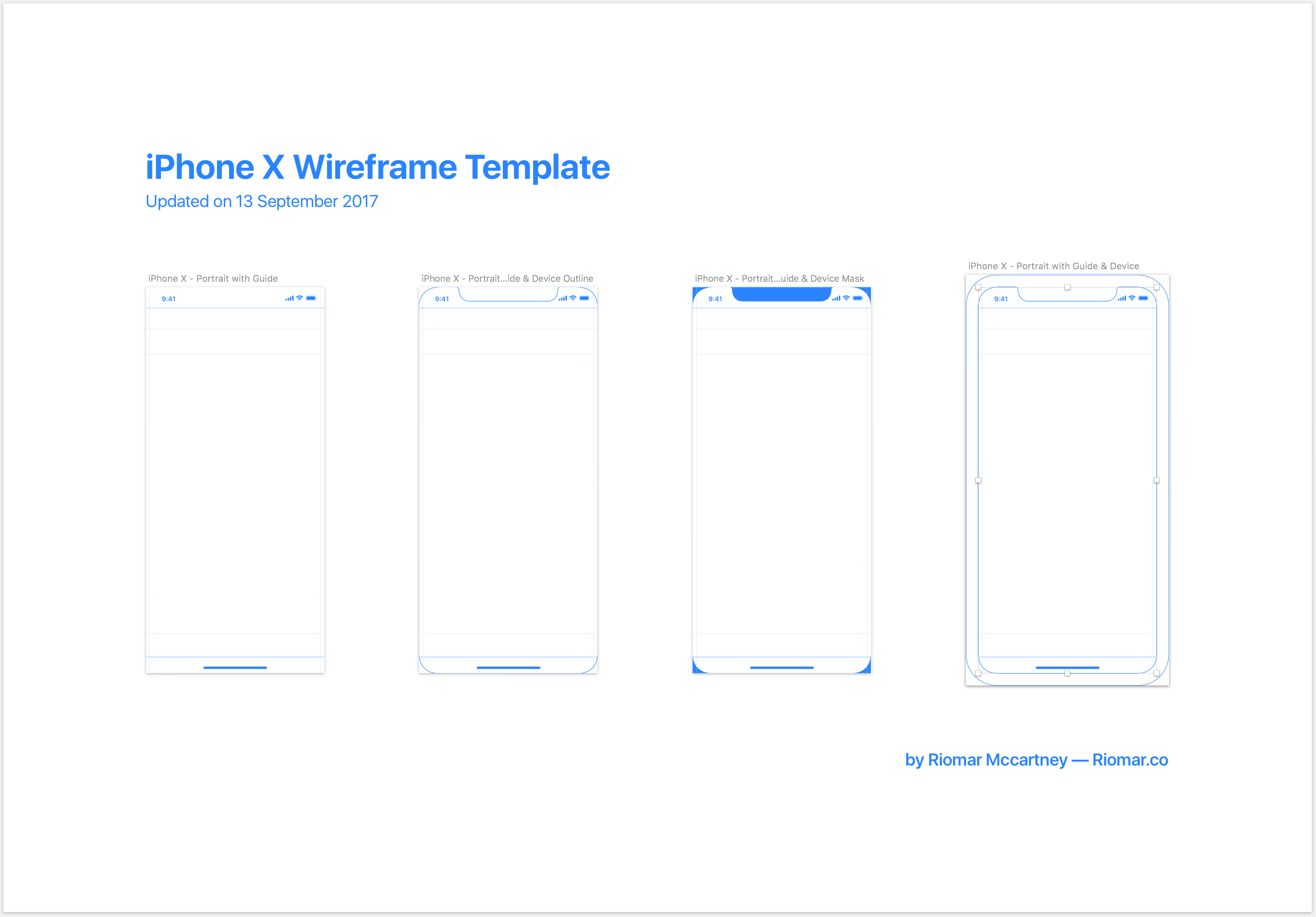 IPhone X Wireframe With IOS 11