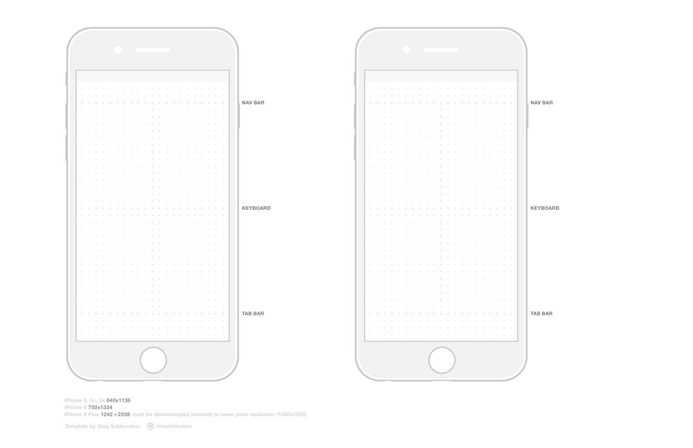 IPhone 6 Wireframes PSD