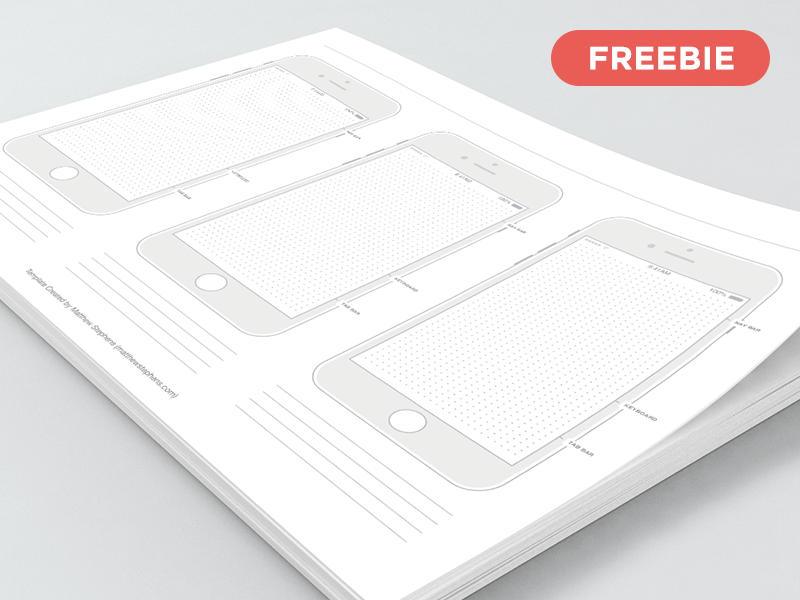 Free Printable iPhone 7 Templates