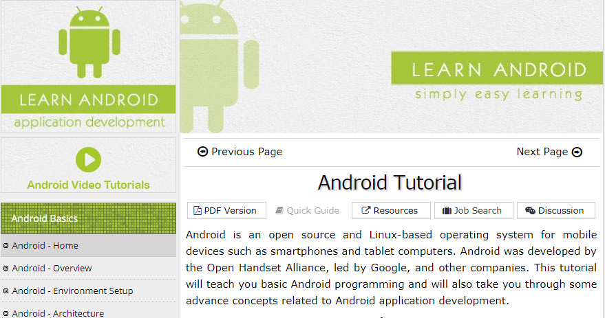 24 Best Android Development Tutorials and Resource for