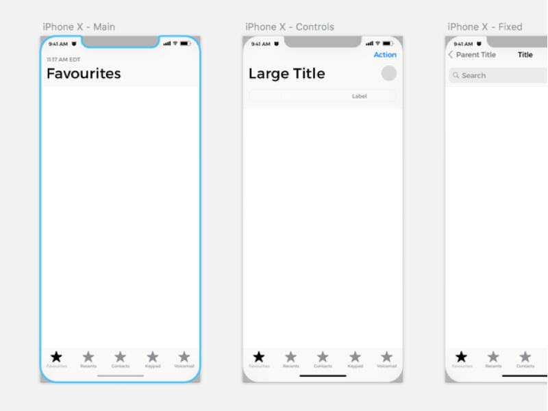 iPhone X Wireframe Kit Sketch Resource