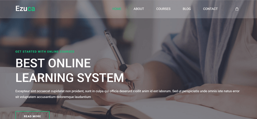 ezuca free html5 education template for modern websites