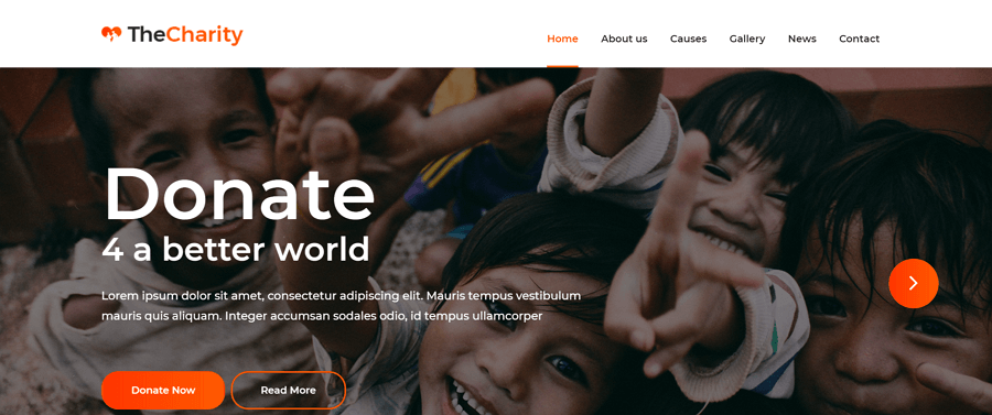 The Charity Free HTML Website Template