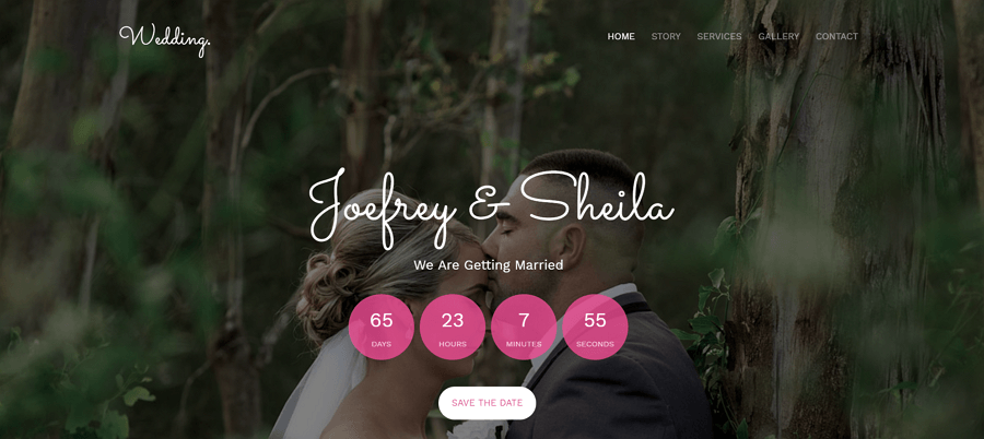 Wedding-Multi-page-free-HTML5-bootstrap-wedding-website-template