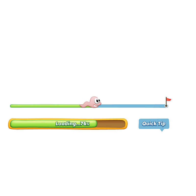Cute Game Loading Progress Bar