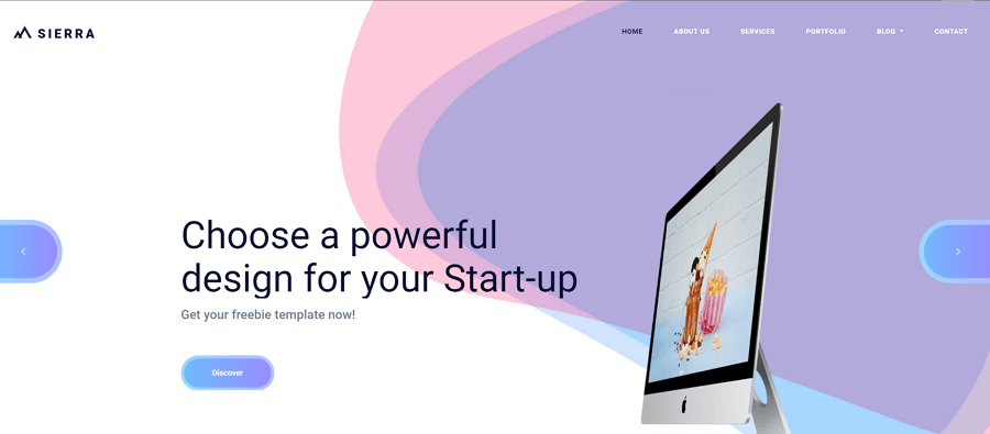 Sierra-Bootstrap-startup-website-design-template