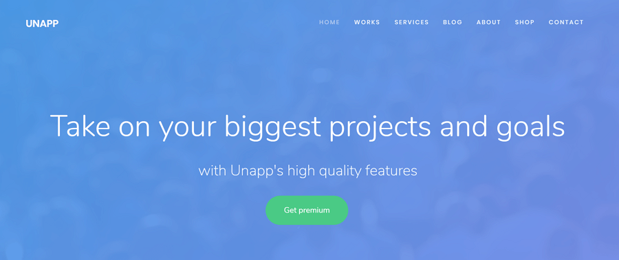 Unapp-Free-business-app-website-template