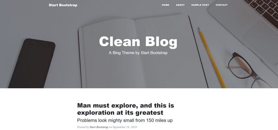 Clean-Blog-Free-Bootstrap-theme-for-blog-website-design