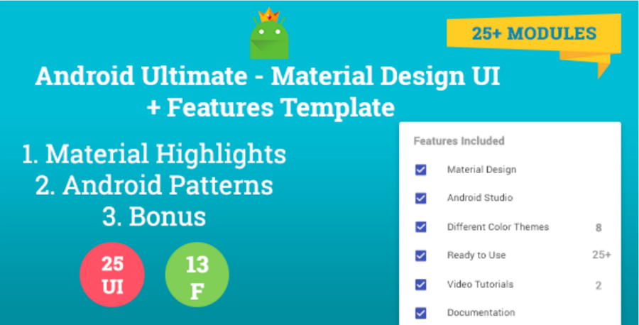 Android Ultimate - Material Design UI + Features Template