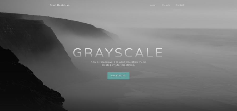 Grayscale, a fully responsive HTML template