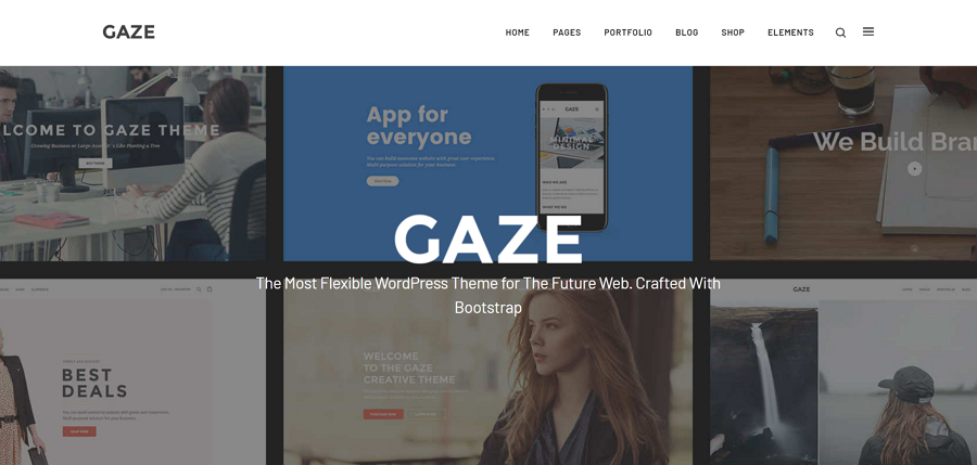 Gaze-Responsive Multipurpose WordPress Theme for E-commerce
