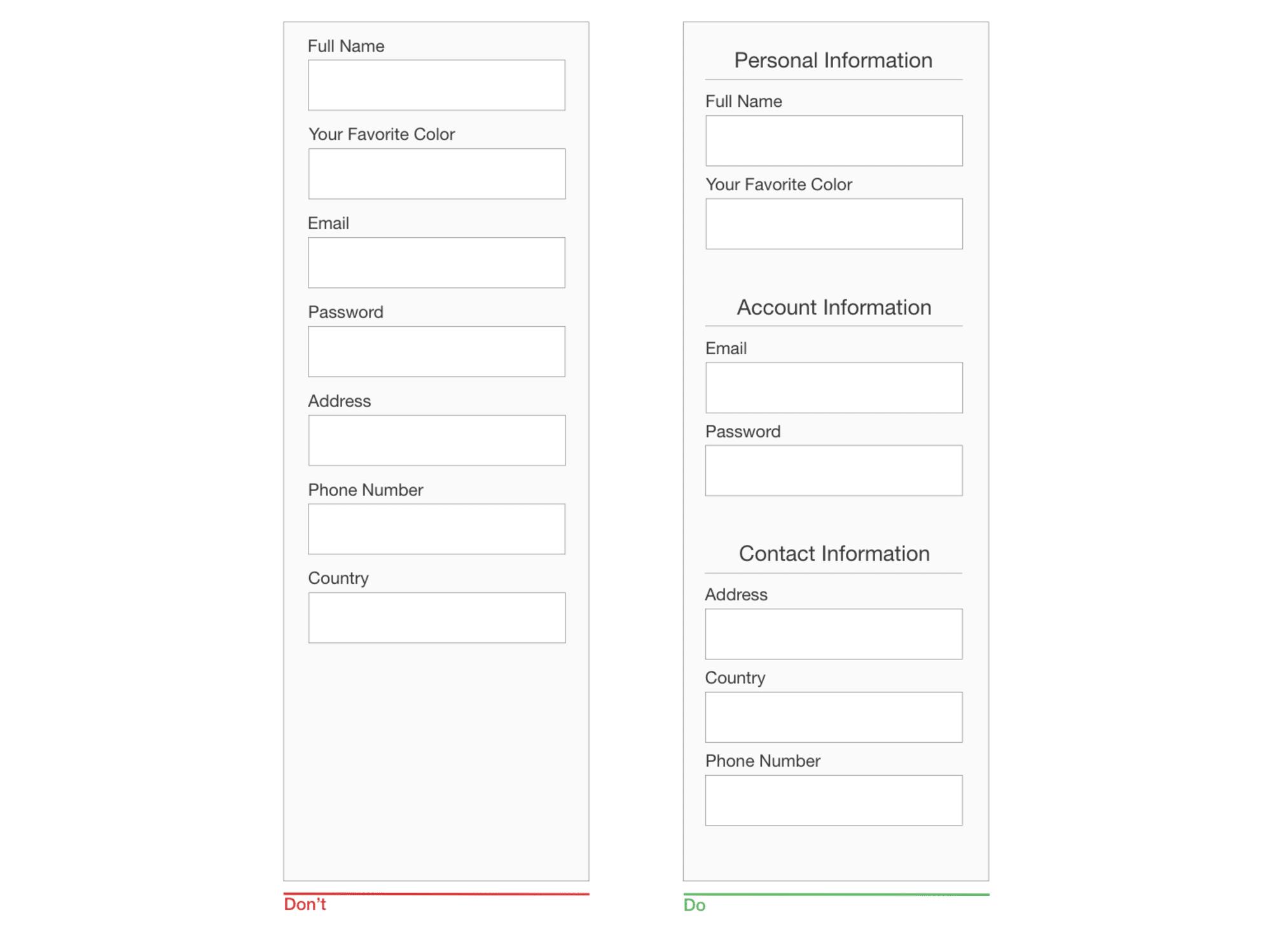 Design a form
