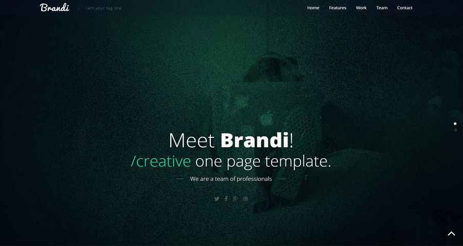 Brandi- Free One Page Responsive HTML5 Business Template