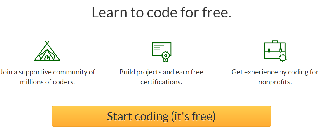 Frecodecamp Learn to code for free