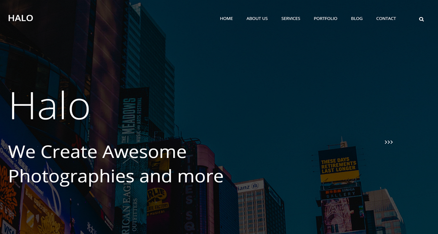 Halo – A Free Multi-Page CSS Website Template