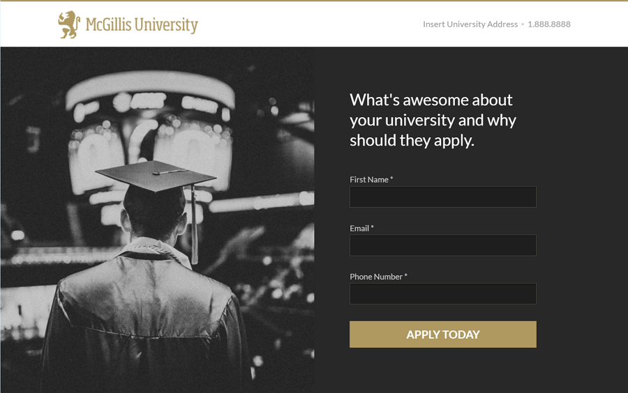 Mcgillis - University Free WordPress landing page theme for Higher Education