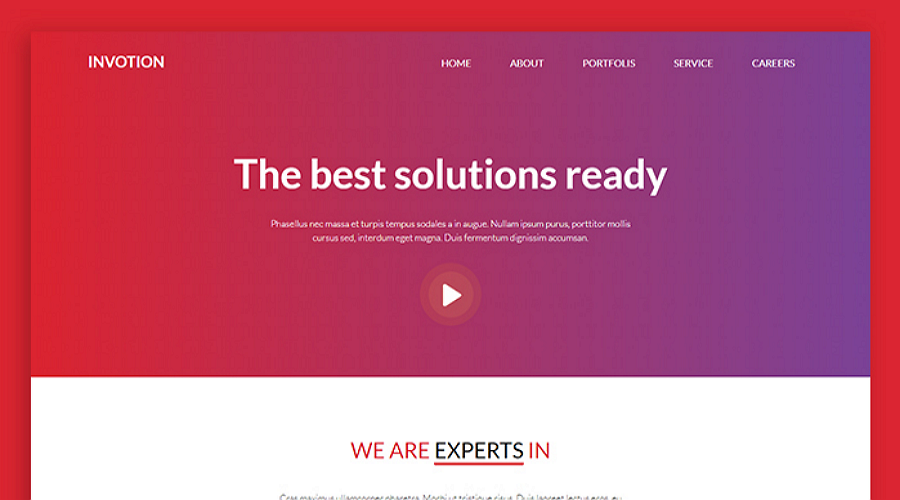 Invotion - A Free Responsive and Creative HTML & CSS Website Template