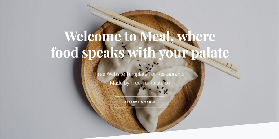 Meal - One Page HTML Template