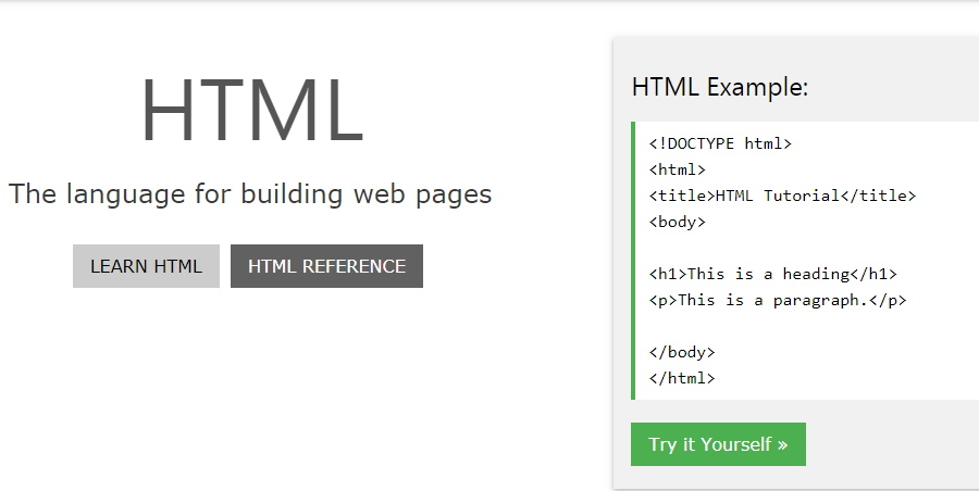 W3schools.com learn html,css, javascript