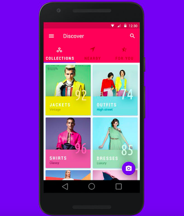 Clothing Mobile App Design