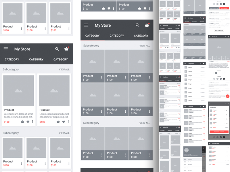Carbon Material Wireframe Kit Sketch Resource