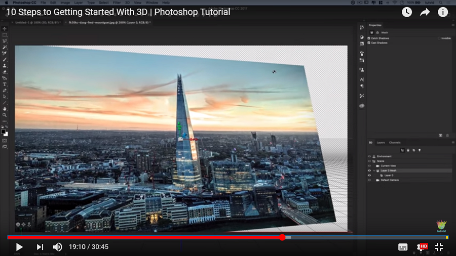 10 Steps to Getting Started with 3D Effects in Photoshop