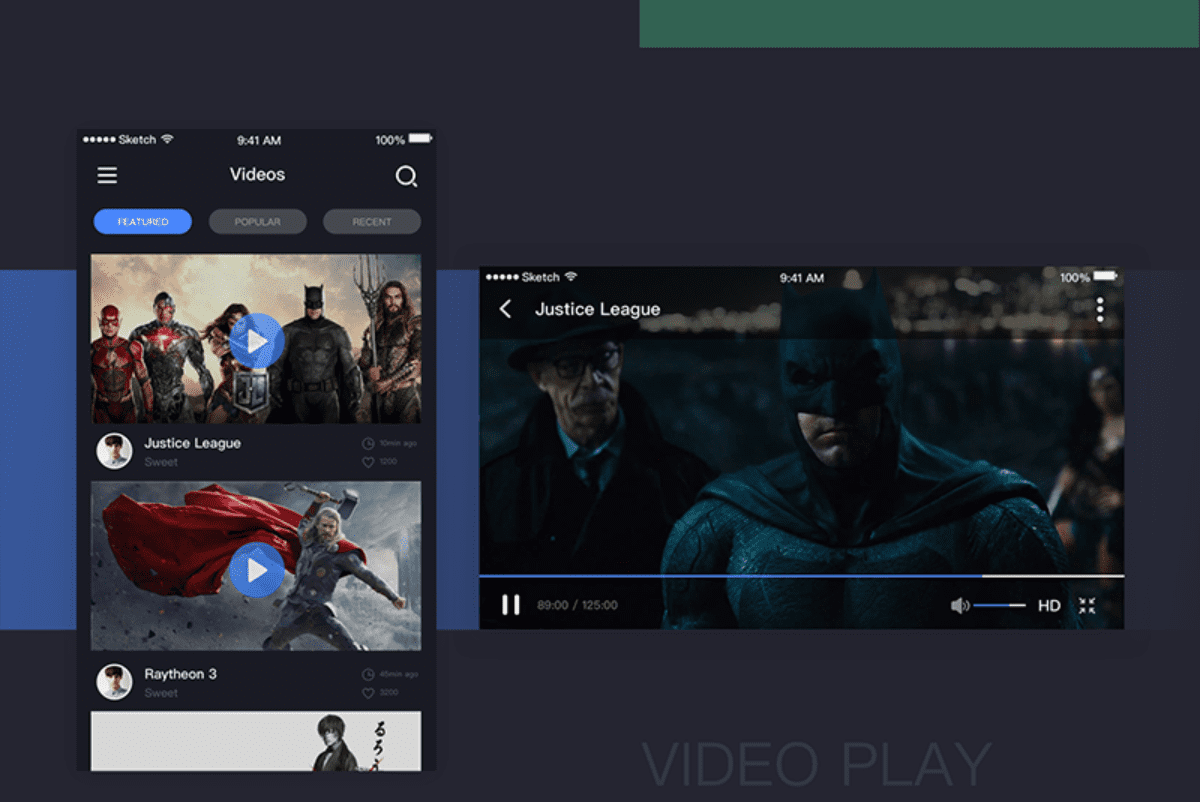 Search bar design - video page