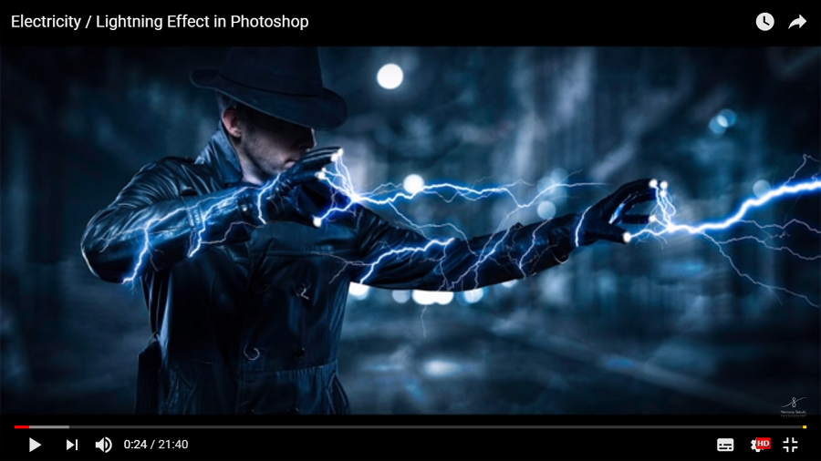 Electricity Lightning Effect in Photoshop