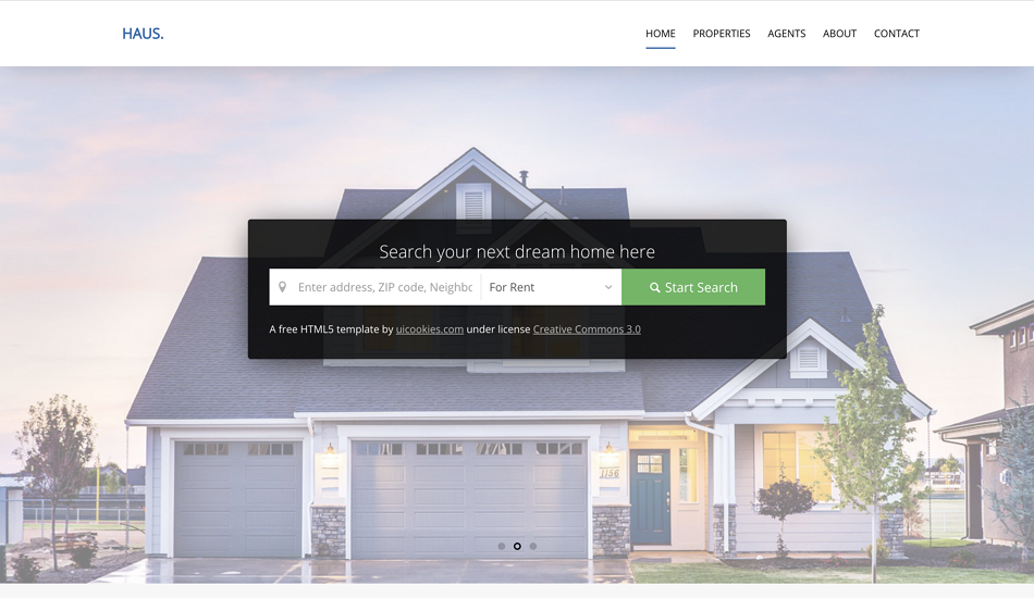 Top 12 Free Inspirational Real Estate Web Design Examples Templates