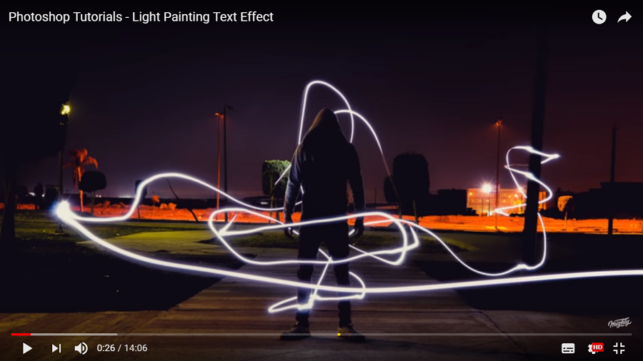 Light Painting Text Effect