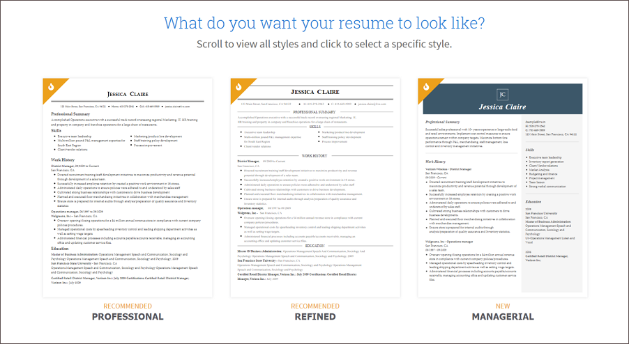 Build Resume Choose Template