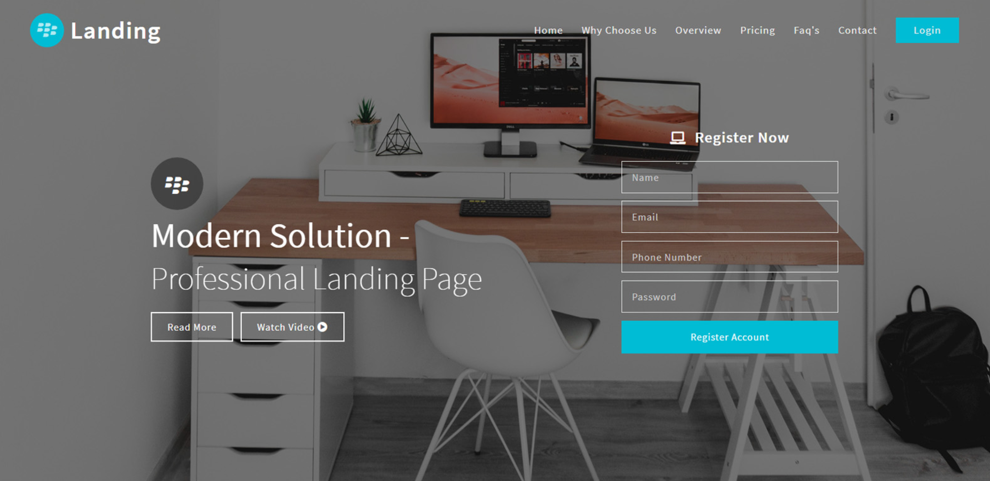 Landing- Landing Page Bootstrap Responsive Web Template