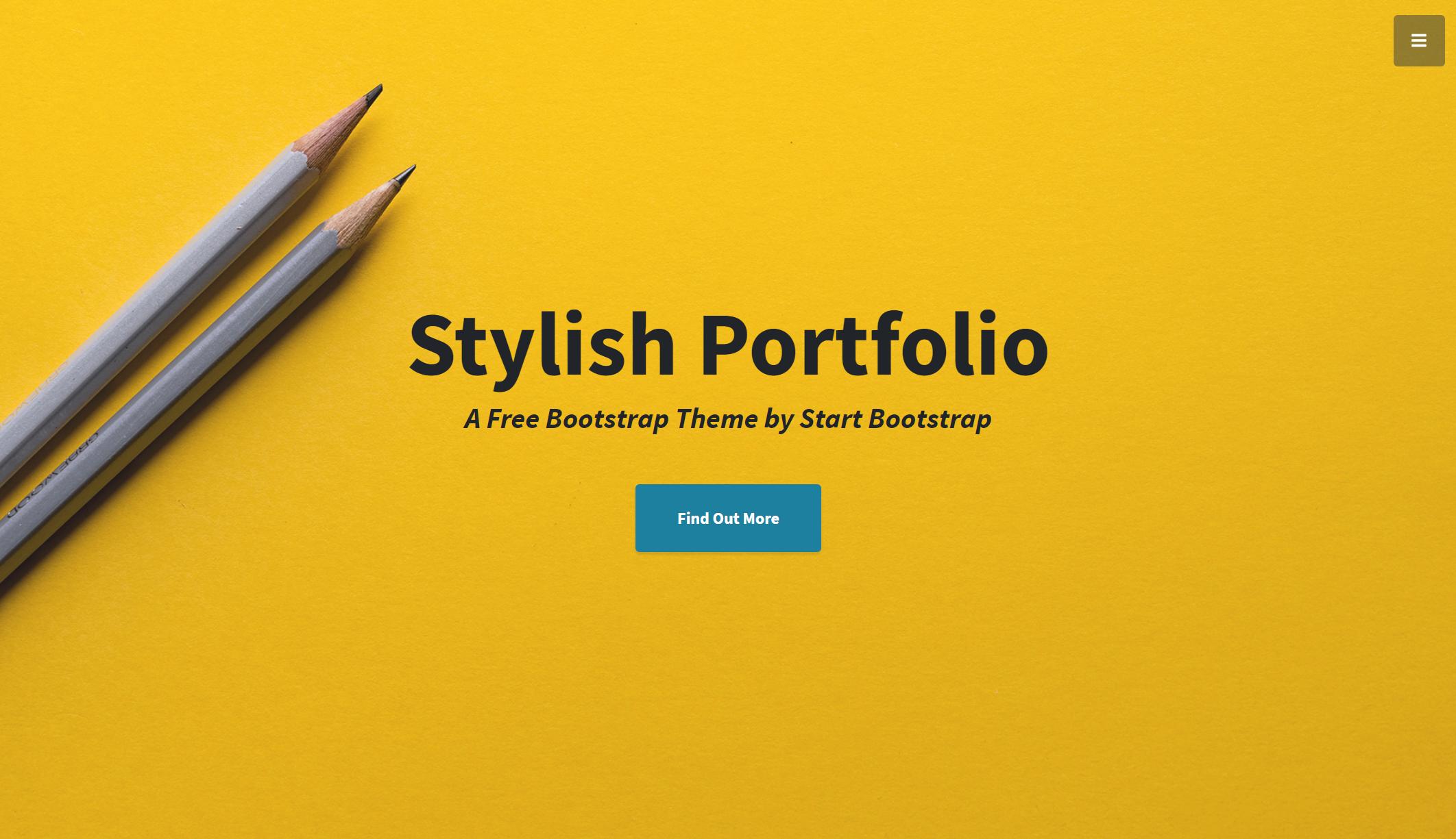 StylishPortfolio - A Stylish One Page Bootstrap Template