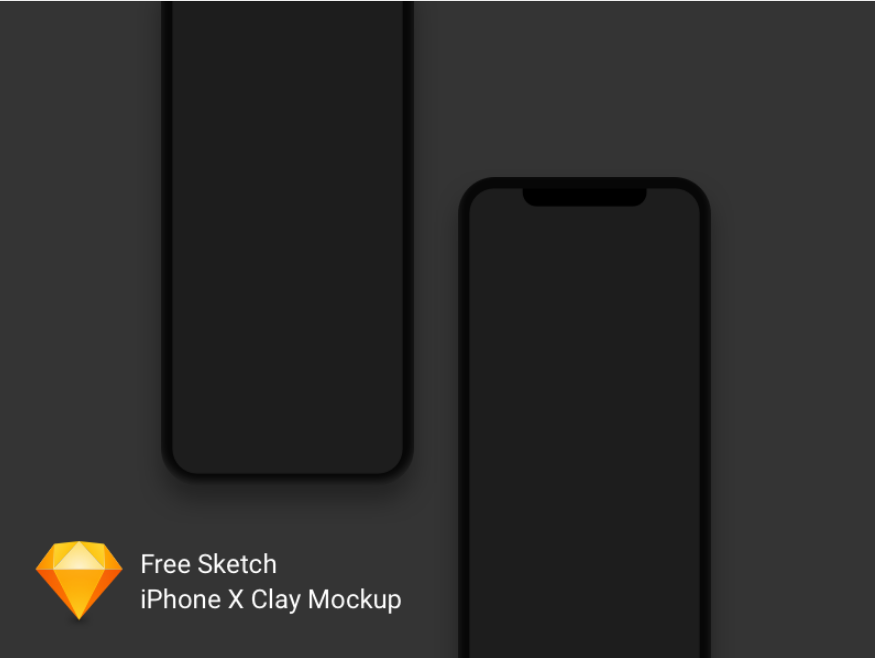 4. iPhone X Clay Mockup Freebie
