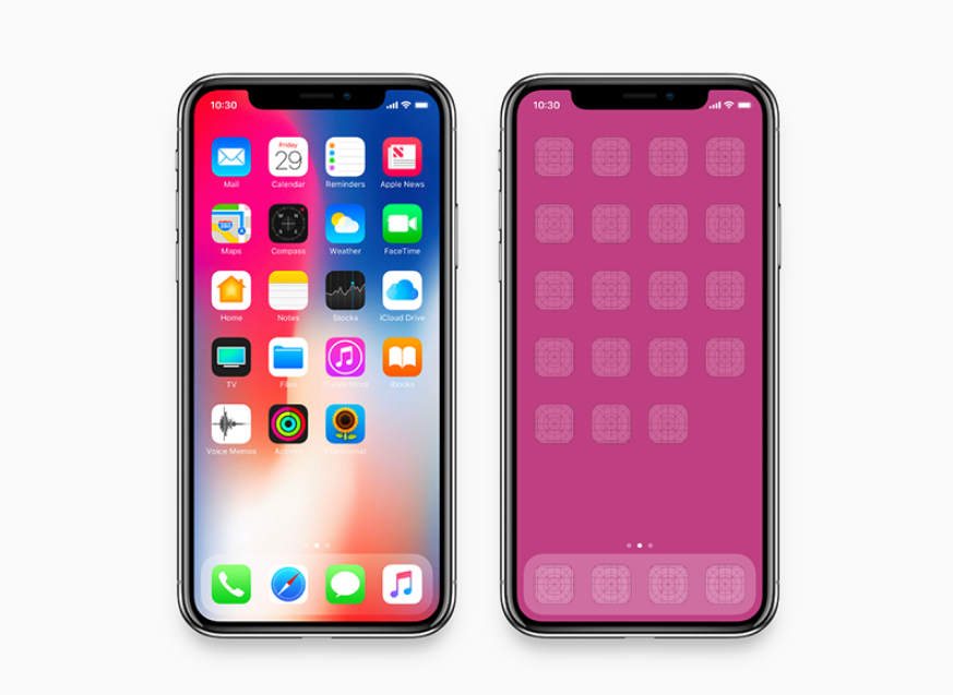 8. iPhone X - Mockup (fits 2436 x 1125 pixel resolution)