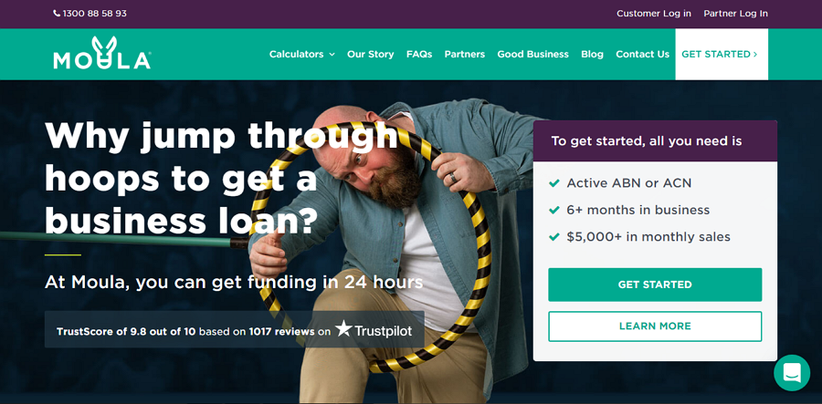 Moula - loan website design example
