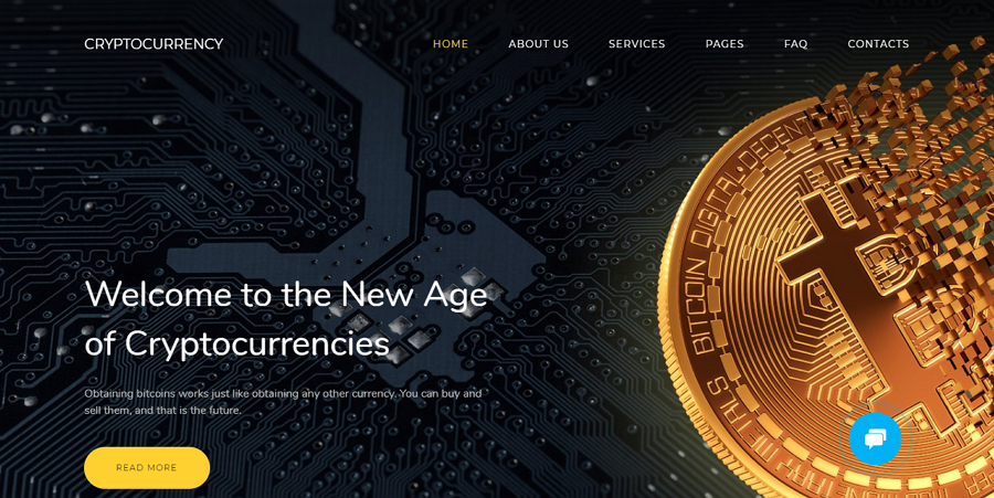 Ico Website Design - Responsive cryptocurrency website template