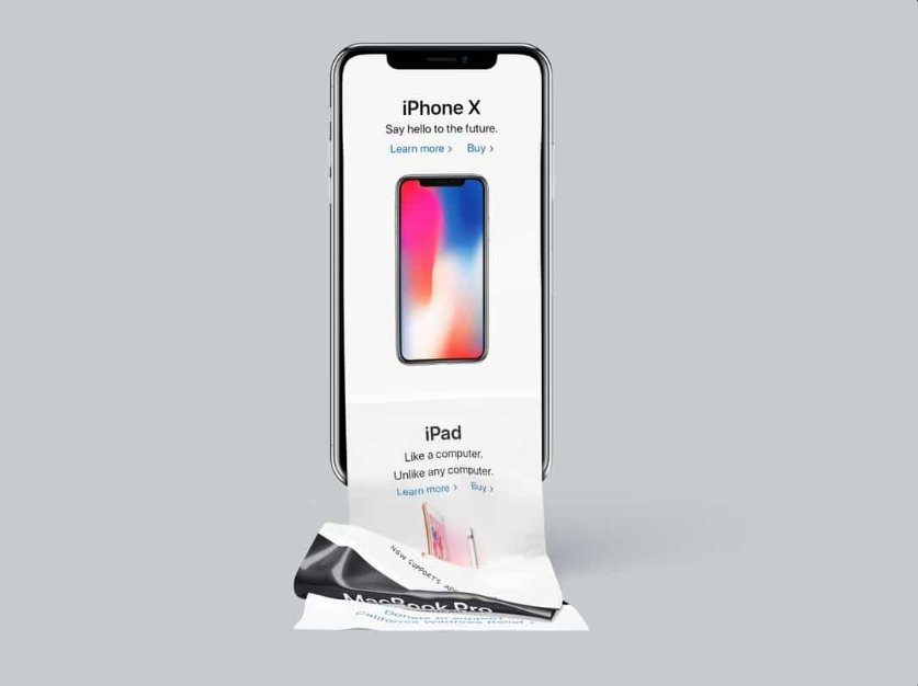 9. Free long scroll iPhone X mockup