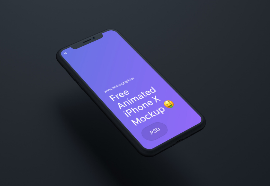 12. Free Animated iPhone X Mockup for Photoshop