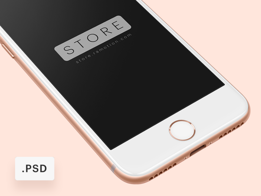 iPhone 8 Free Mockup [PSD]